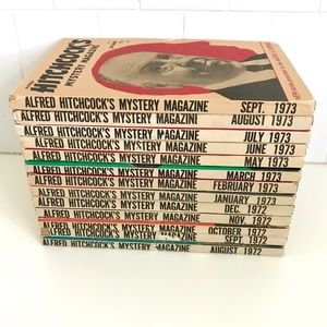Vintage Alfred Hitchcock mystery magazine book set
